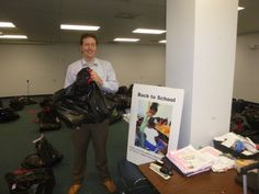 Evan Guthrie Law Firm gave time for the HALOS School Supply event In North Charleston, SC on Thursday August 6, 2015 to help provide school supplies for abused and neglected children. #lawyer #attorney #Charleston #southcarolina #school #supplies #backpacks #chs #business #donate #volunteer #community #children #abuse #neglect #dss #givingback #money #good ,#smiles #fun #popsicles #law #kids