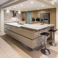 Modern and Contemporary Ceiling Design for Home Interior 41 Kitchen Ceiling Design, House Ceiling Design, Kitchen Ceiling Lights, Luxury Kitchen Design, Best Kitchen Designs, Home Decor Kitchen, Interior Design Kitchen, Modern Ceiling Design, Kitchen Time