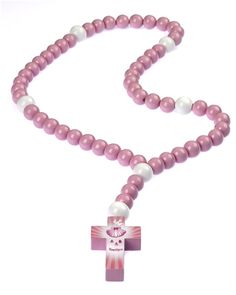 Large+Pink+Wood+Baby+Baptism+Rosary+in+Gift+Box