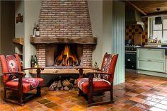 #fireplace #vintage #farm #colours #chimney