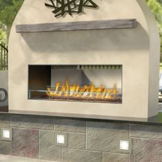 Napoleon GSS48 Outdoor Linear See Thru Gas Fireplace #LearnShopEnjoy