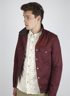 Percival Clothing | Denim Jacket - Burgundy