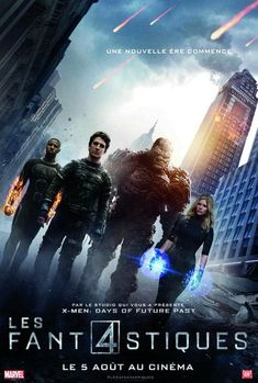 New 'Fantastic Four' posters features the film's heroes front and center, with the villainous Doctor Doom looming in the background. Fantastic 4 Movie, Fantastic Four Comics, 2015 Movies, Man Movies, X Men, Upcoming Superhero Movies, Miles Teller, Days Of Future Past, Marvel Films