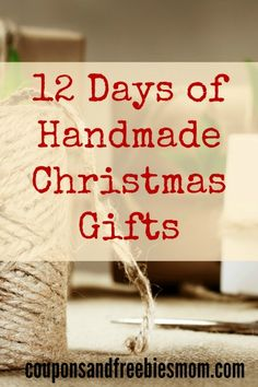 Handmade Christmas Gifts: 12 Simple Homemade Holiday Presents! 12 EASY and inexpensive DIY gifts that are perfect for this holiday season! Don't spend a fortune on Christmas gifts! Check out these beautiful, fun, and easy homemade gift ideas right now!