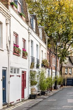 A colorful mews street in the heart of London's chi chi Belgravia London Eye, London House, London Street, London City, Big Ben, Highgate Cemetery, Mews House, Voyage Europe, London Places