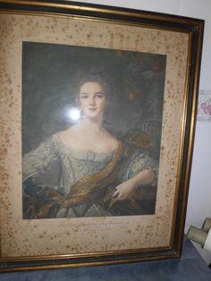 Old stamping Princess Victoria de France ¡King Luis XV!