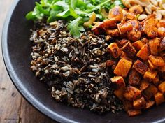 """Brown rice is the bomb. But wild rice is a seed that's a good source of B vitamins and has almost twice the protein, and six times the amount of folic acid, Novetsky explains. """"I swap it out for brown or white rice and make Nori rolls with it,"""" she says. Brilliant!"""