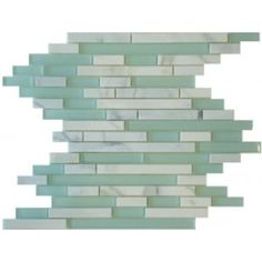 Italian Calacatta Gold 1/2 in. x Random Strip Honed Marble Mosaic Tiles with Glass