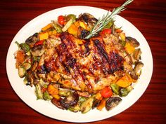 Grilled rosemary chicken under the brick