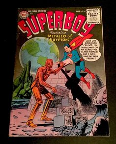 Superboy 49 1st Appearance Metallo DC Comics Curt Swan 1956 VG FN | eBay