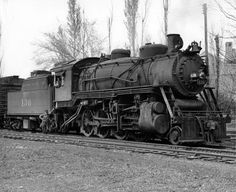 """Missouri Pacific Railroad's engine 136 was probably the last steam-driven locomotive in Cape Girardeau. The picture was made in Mo-Pac's yard on April 14, 1953. (Missourian archives photo by G.D. """"Frony"""" Fronabarger)"""