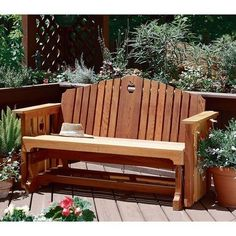 If you start now youll be enjoying sunsets from this beautiful piece of outdoor furniture in no time at all!Built of cedar this outdoor classic requires just strap iron an