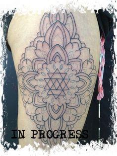 Dotwork Mandala (in Progress) by Bjanca
