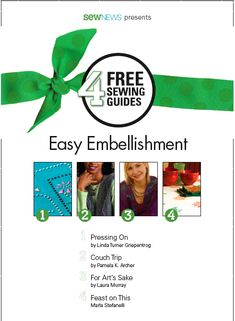 How to Sew eBooks, Free Sewing Patterns, Sewing How To Guides | Sew News