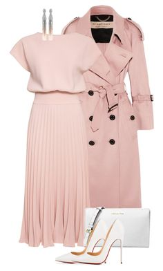 """More pink! #fashion"" by ashley-loves ❤ liked on Polyvore featuring Burberry, Michael Kors, Christian Louboutin and Oscar de la Renta"
