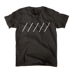 Comic Line - 8 (White) Tシャツ