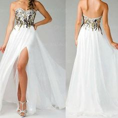 golden and sliver sequin prom dress, wear like a  angle.