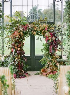 fall-inspired-wedding-ceremony   by sarah winward, honey of a thousand flowers