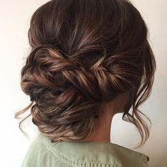 Her color with this romantic updo