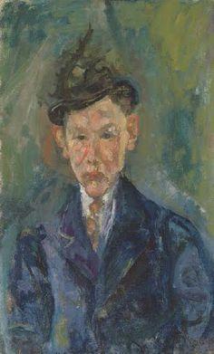 Chaïm Soutine (1893-1943) Le jeune homme au petit chapeau 1916 oil on canvas 31 7/8 x 19 5/8 in. Painted circa 1916
