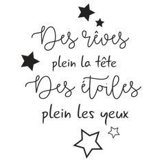 Très bel adhésif pour décorer la chambre des petits. Des étoiles plein les yeux, des rêves plein la tête : cette phrase pourra trouver sa place auprès du lit de bébé. Today Quotes, Real Quotes, Book Quotes, Positive Attitude, Positive Quotes, Sticker Citation, Jolie Phrase, Cushion Cover Designs, Miracle Morning