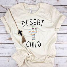 Desert Child tee, desert, child tee, cactus, cactus shirt, aztec, tribal, southwestern, southern, de