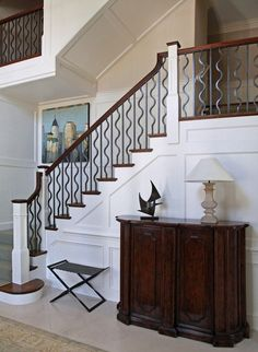 Boston Design Guide is a high-end annual resource publication featuring New England's best home resources Stair Railing, Railing Ideas, Railings, Stairs To Heaven, Ideal Home, Interiores Design, Architecture Design, New Homes, Room Ideas