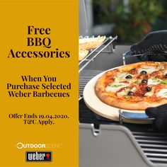 We are now giving you for free few bbq accessories with Weber Genesis II and Weber Summit so that you can enhance your bbq possibilities! 1) Buy any Weber Genesis II gas BBQ and get free bbq assembly (Dublin only), free bbq cover, free pizza stone & free griddle. All promos valid only until 31.03.2020 2) Buy Weber Summit gas bbq & get free bbq assembly (Dublin only), free sear grate & free poultry roaster. Promotion valid until 19.04.2020
