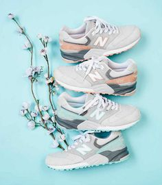 """New Balance Spring/Summer 2014 """"Cherry Blossom"""" Pack Sock Shoes, Shoe Boots, Shoe Bag, Ugg Boots, Look Fashion, Fashion Shoes, Mens Fashion, Sneakers Fashion, Look Casual"""