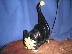 Wooden Cat Letter/ Mail /Bills Holder - Decorative from Mid-20th Century #Unbranded #cat