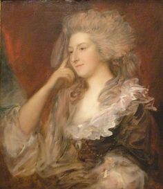 1784 Mrs. Fitzherbert by Thomas Gaisborough (Fine Arts Museums of San Francisco, Palace of the Legion of Honor - San Francisco, California USA) Photo - eric | Grand Ladies | gogm