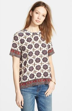 Madewell Silk Medallion Print Tee available at #Nordstrom