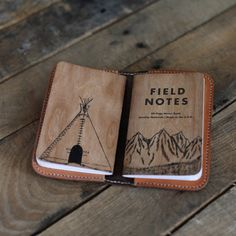 Field Notes Mountain Notebook  Hand Painted by SomeLittleGood