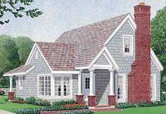 Bungalow Style House Plans - 1302 Square Foot Home , 2 Story, 2 Bedroom and 2 Bath, 2 Garage Stalls by Monster House Plans - Plan Bungalow Style House, Cottage Style House Plans, Bungalow House Plans, Craftsman Style House Plans, Cottage House Plans, Country House Plans, Small House Plans, Cottage Homes, House Floor Plans