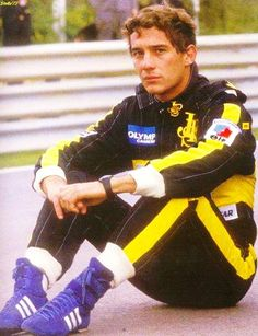 Ayrton Senna adidas goodyear f1