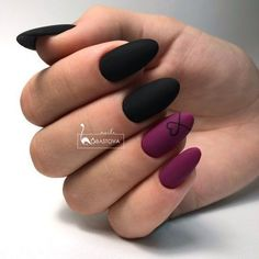 65 Winter Nail Designs for Christmas – – Related posts: Winter nails Christmas nails. Fun designs for manicures Winter Nail Designs: … Winter Nail Designs, Black Nail Designs, Cute Nail Designs, Matte Nail Art, Cute Acrylic Nails, Black Nail Art, Mat Black Nails, Matte Gel Nails, Black Almond Nails