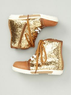Glitter High Top Sneakers by LIV on Gilt.com