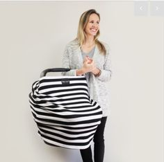 Milk Snob Black & White Stripe print