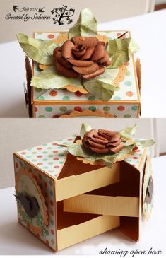 Secret drawers gift box.....very cool.  Need a pattern for my Pazzles!  :)