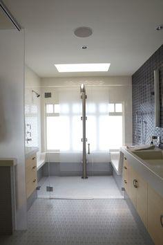 A true walk-in shower.