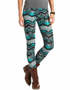 printed cotton spandex legging