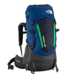 The North Face Terra 35 Backpack Youth Estate BlueBlarney Green OS *** Check out the image by visiting the link. http://www.amazon.com/gp/product/B014ID9Y6U/?tag=camping3638-20&pvw=100117213521