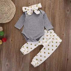 Cheap infant top, Buy Quality baby girl directly from China newborn baby shirts Suppliers: autumn warm NewBorn toddler infant princess DOT Baby Girl Infant Top Shirt+Pant Legging+Headband Outfit Set Clothing New Baby Girls, Cute Baby Girl, Baby Boys, Infant Girls, Teen Boys, Kids Girls, Baby Set, Newborn Outfits, Baby Outfits