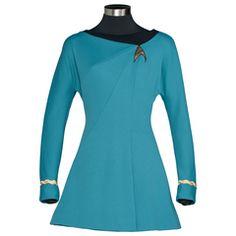 Geeky girl heaven. Star Trek dress.