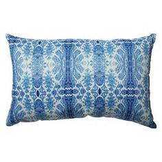 """Pillow Perfect Rue Sapphire Rectangular Throw Pillow - 18.5""""x11.5"""" - Blue"""
