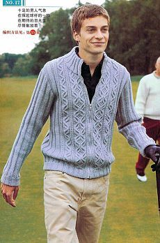 Мужские пуловеры спицами. Подборка моделей-2 Cremalleras 17d30ddbcaa