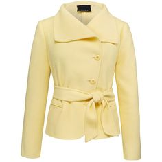 Carlisle Collection : Fall : Product LEMONCHIFFON ❤ liked on Polyvore featuring outerwear, jackets, coats & jackets, lemonchiffon jacket, yellow, yellow jacket and beige jacket