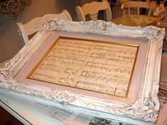 Great idea for music room; frame my favorites