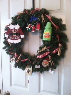 Christmas wreath for laundry room