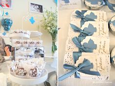 chocolate details for this angel themed baptism